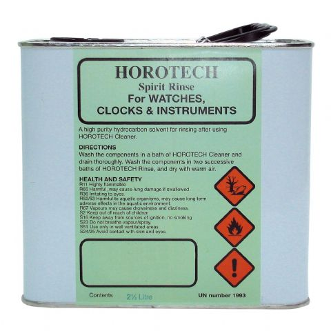 HOROTECH Spirit Rinse For WATCHES, CLOCKS AND INSTRUMENTS 2.5ltr